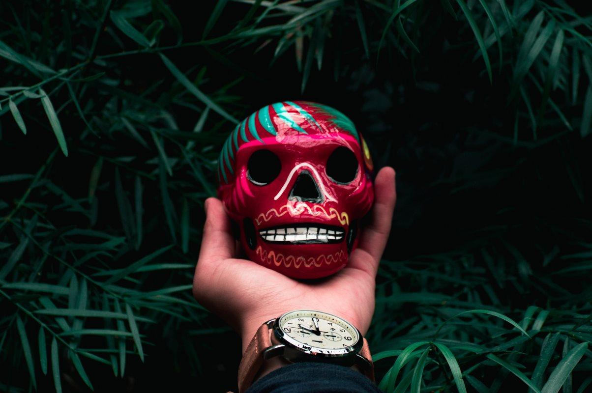 Calavera - in Mexiko allgegenwärtiges Symbol des Todes